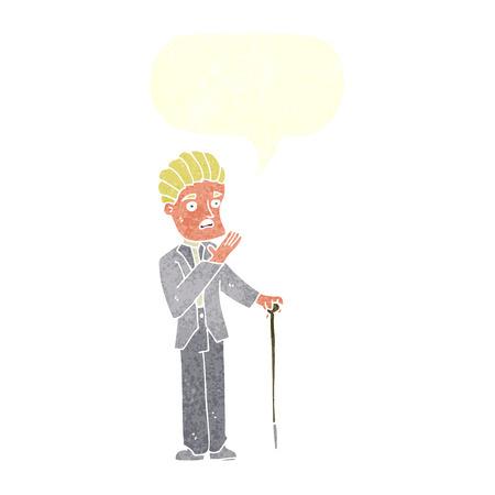 shocked man: cartoon shocked gentleman with speech bubble