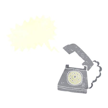 telephone cartoon: cartoon ringing telephone with speech bubble