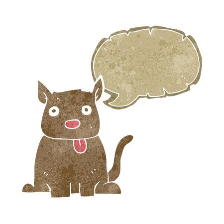 sticking out the tongue: perro del dibujo animado sacar la lengua con bocadillo