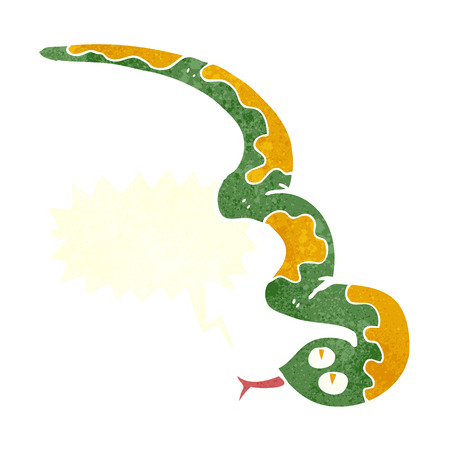 hissing: cartoon hissing snake with speech bubble