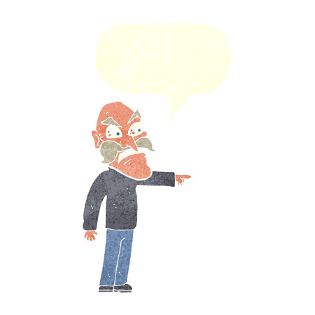 furious: cartoon furious old man with speech bubble Illustration