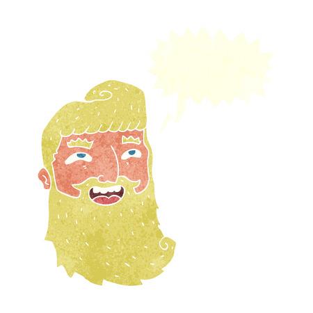 bearded man: cartoon laughing bearded man with speech bubble