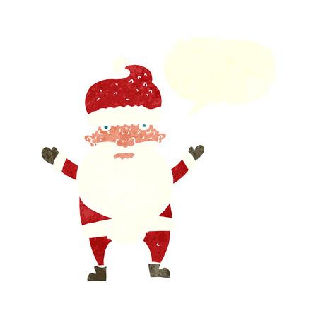 grumpy: cartoon grumpy santa with speech bubble