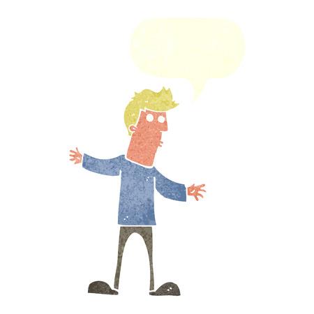 meraklı: konuşma balonu ile karikatür meraklı adam