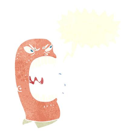 furious: cartoon furious man shouting with speech bubble