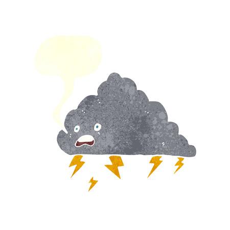 thundercloud: fumetto nube temporalesca con fumetto