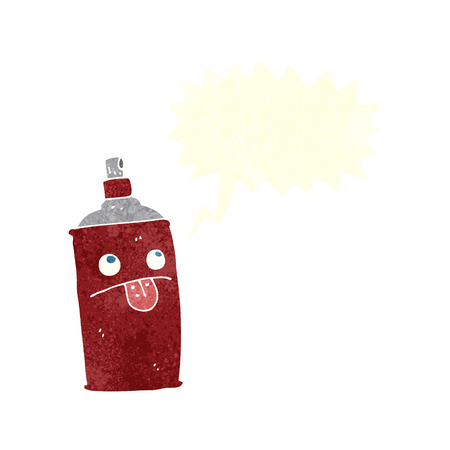 cartoon spray can with speech bubble Vector