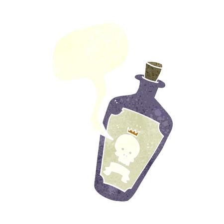 poison: cartoon poison with speech bubble