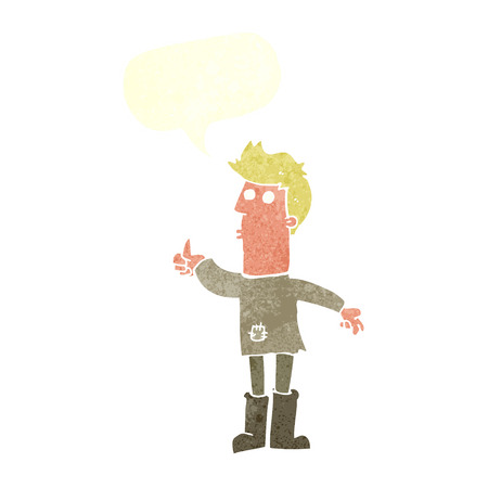 poor man: cartoon poor man with speech bubble Illustration