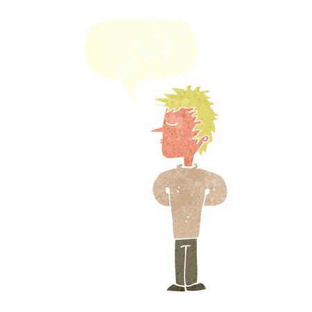 ignoring: cartoon man ignoring with speech bubble