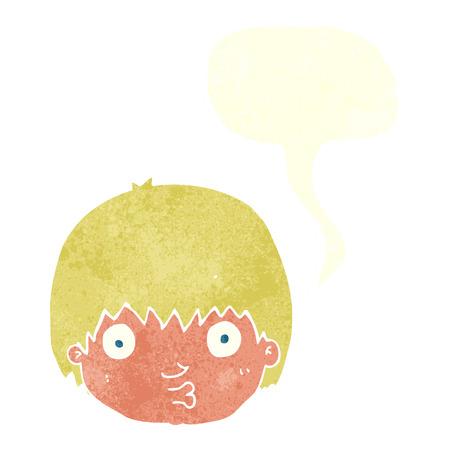 curious: cartoon curious boy with speech bubble