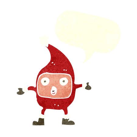 cartoon funny christmas creature with speech bubble Vector
