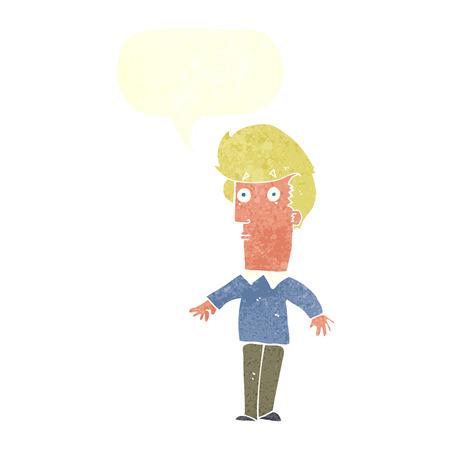startled: cartoon startled man with speech bubble
