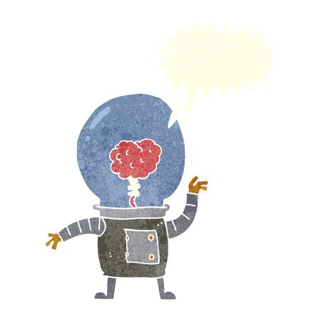 cartoon robot cyborg with speech bubble Vector