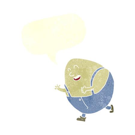 humpty dumpty: cartoon humpty dumpty egg character with speech bubble