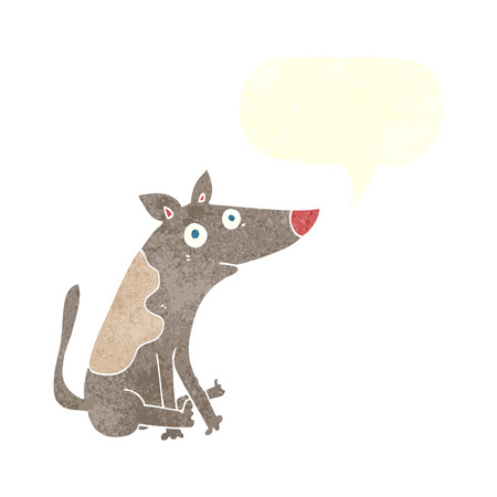 cartoon dog with speech bubble Illustration
