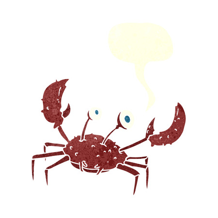pincers: cartoon crab with speech bubble