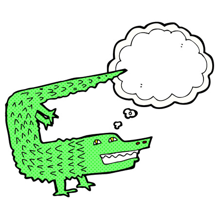 thought bubble: cartoon crocodile with thought bubble