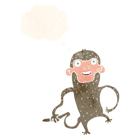 thought bubble: cartoon monkey with thought bubble