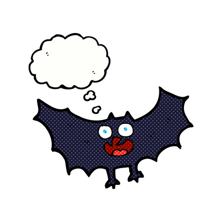 thought bubble: cartoon bat with thought bubble