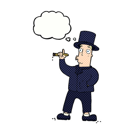 cigar smoking man: cartoon smoking gentleman with thought bubble