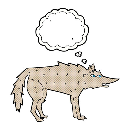 thought bubble: cartoon wolf with thought bubble