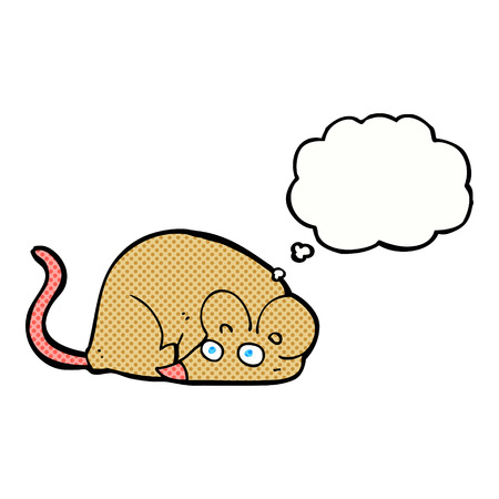 thought bubble: cartoon mouse with thought bubble