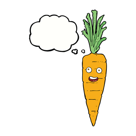 thought bubble: cartoon carrot with thought bubble