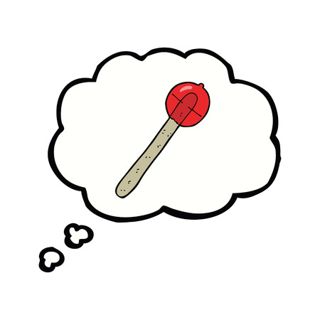 cartoon lollipop with thought bubble Vector