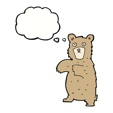 thought bubble: cartoon bear with thought bubble