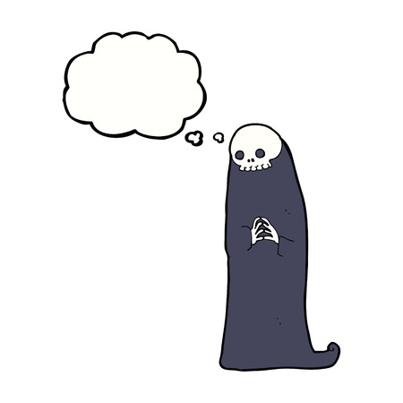 necromancer: cartoon halloween ghoul with thought bubble