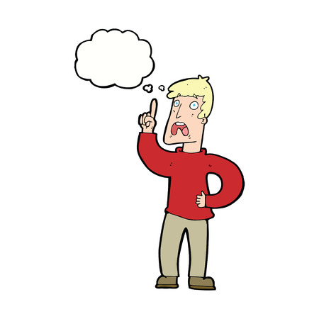 complaint: cartoon man with complaint with thought bubble