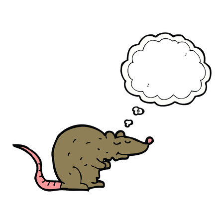 cartoon rat: cartoon rat with thought bubble Illustration