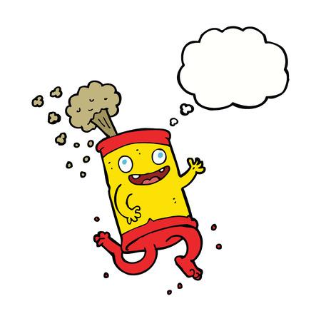 lata de refresco: historieta loca lata de refresco con burbuja de pensamiento