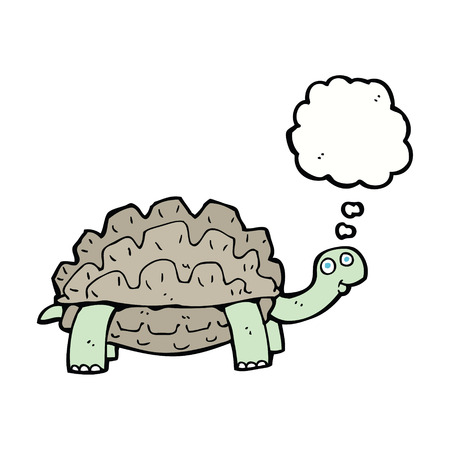 tortoise: cartoon tortoise with thought bubble