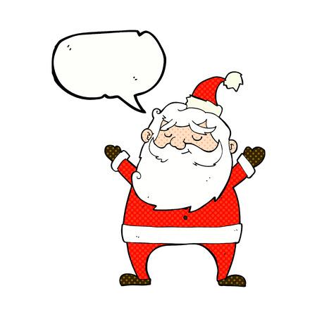 jolly: jolly santa cartoon with speech bubble