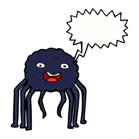 cartoon spider with speech bubble Illustration
