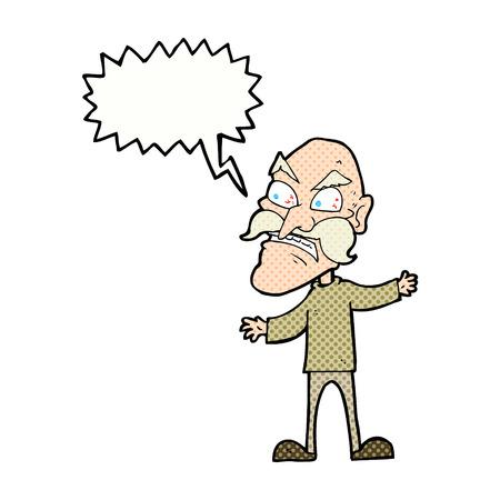 연설 거품 만화 화난 늙은이 스톡 콘텐츠 - 35637772