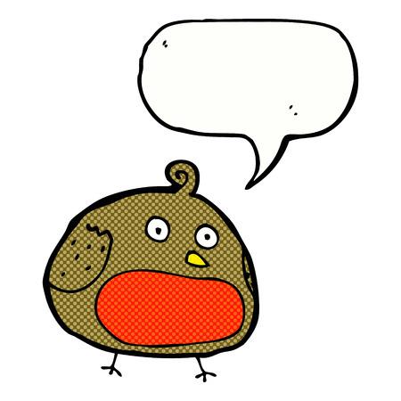 robin: cartoon robin with speech bubble