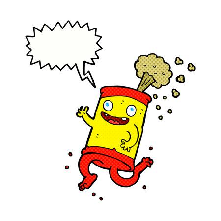 lata de refresco: historieta loca lata de refresco con bocadillo