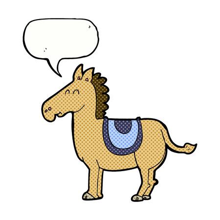 funny donkey: cartoon donkey with speech bubble