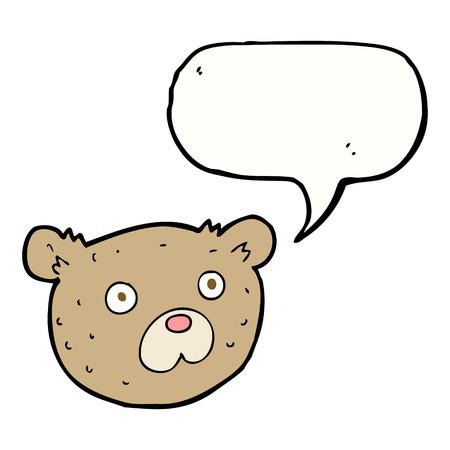 cartoon teddy bear with speech bubble Vector