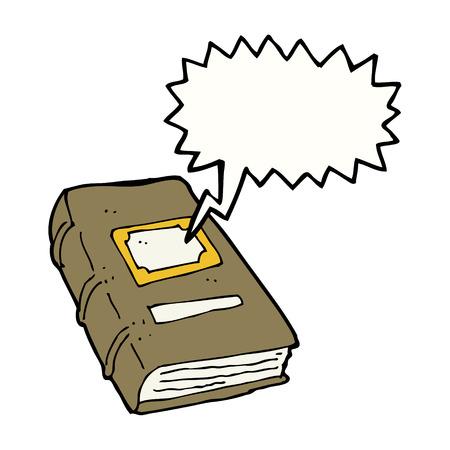 mani legate: cartone animato vecchio libro con il fumetto
