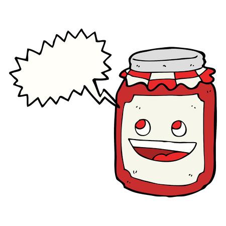 conserve: pot de bande dessin�e de pr�server, avec une bulle Illustration