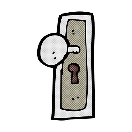 knob: retro comic book style cartoon door knob