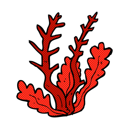 seaweed: retro comic book style cartoon seaweed