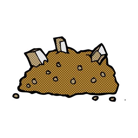 rubble: retro c�mico mont�n de dibujos animados del estilo del libro de escombros