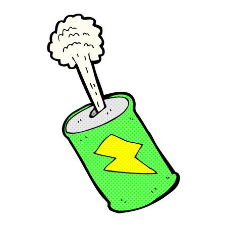 lata de refresco: estilo del c�mic refresco retro efervescencia de dibujos animados puede Vectores