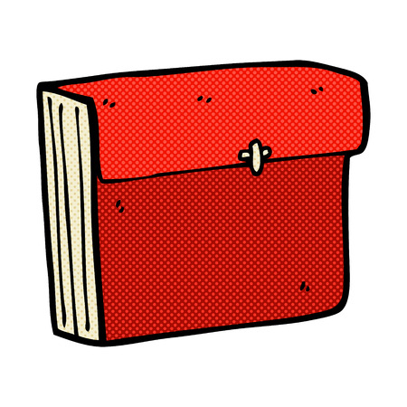 organised: retro comic book style cartoon business files
