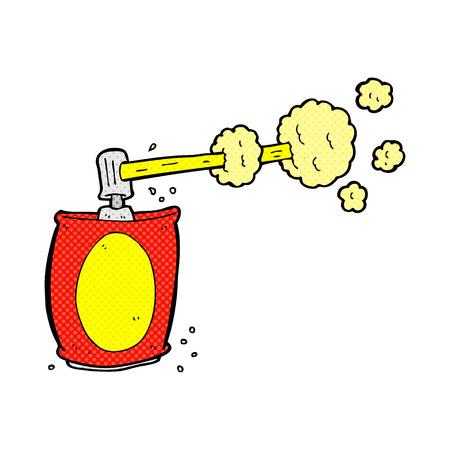 aerosol can: retro comic book style cartoon aerosol spray can